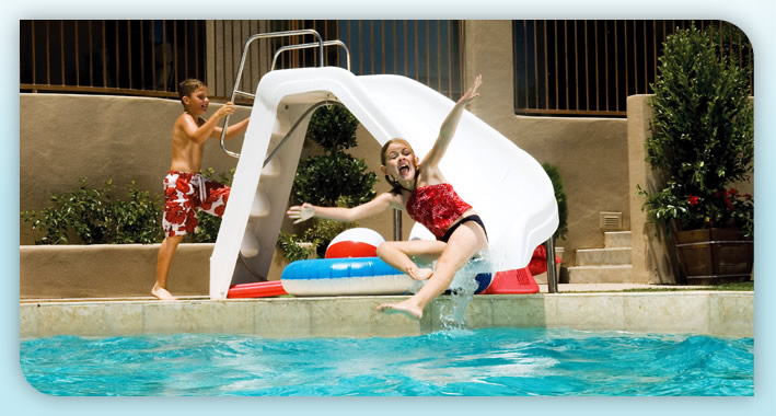 Curved Pool Slide