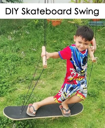 DIY Skateboard Swing - Make Your Own