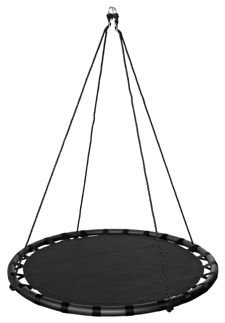 100cm Black Round Mat Nest Swing Heavenly Hammocks