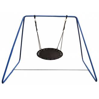 100cm Black Mat Nest Swing with Swing Set Stand