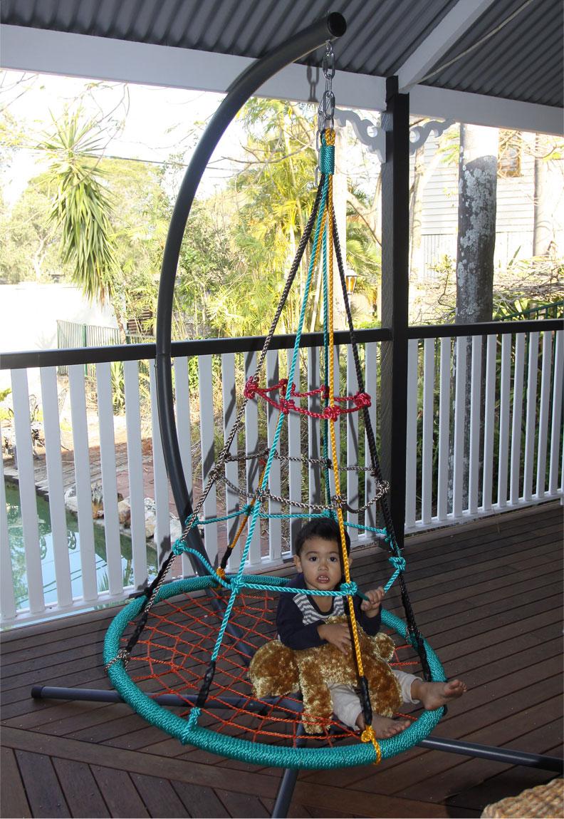 100cm multi colour round birds nest swing heavenly hammocks for Hanging round hammock