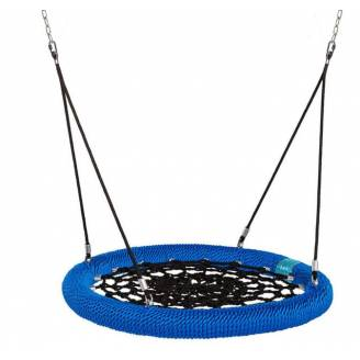Heavy Duty Commercial 100cm Blue Rope Nest Swing