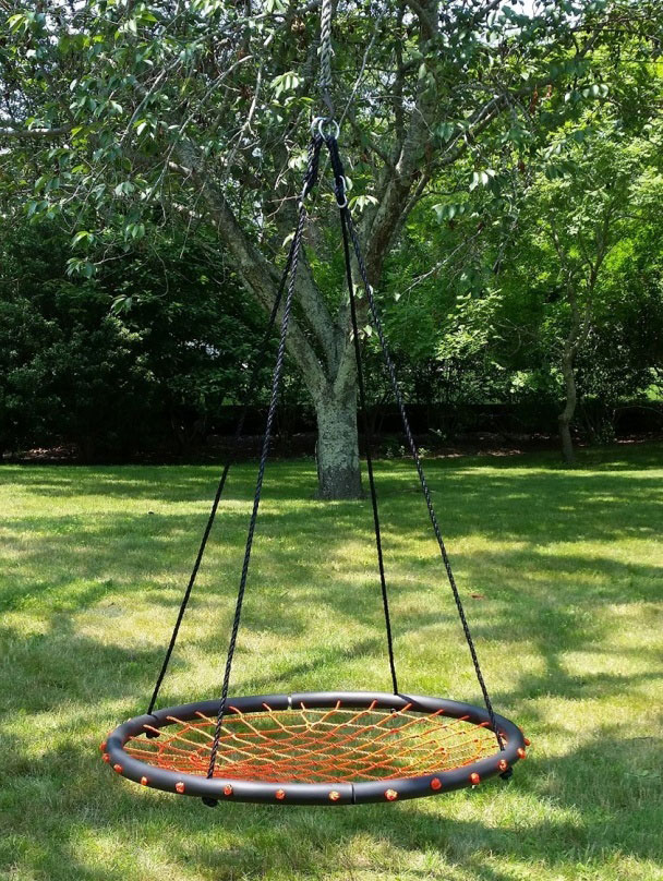 100cm Orange Round Spider Web Nest Swing Heavenly Hammocks