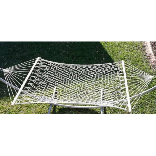 White Rope Hammock On Grass