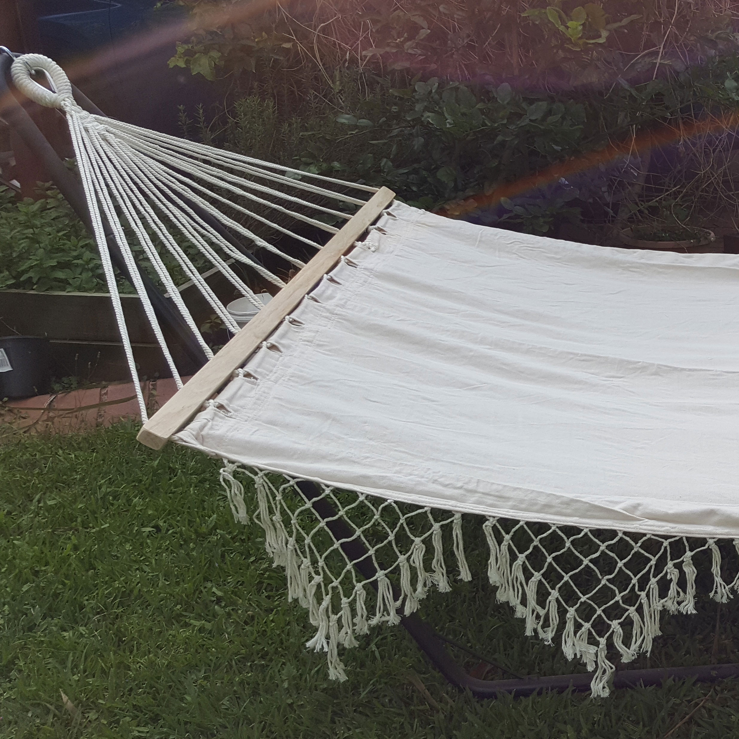 chains thick stand hayneedle ft with island steel stripe bay cfm product top master hammock pillow
