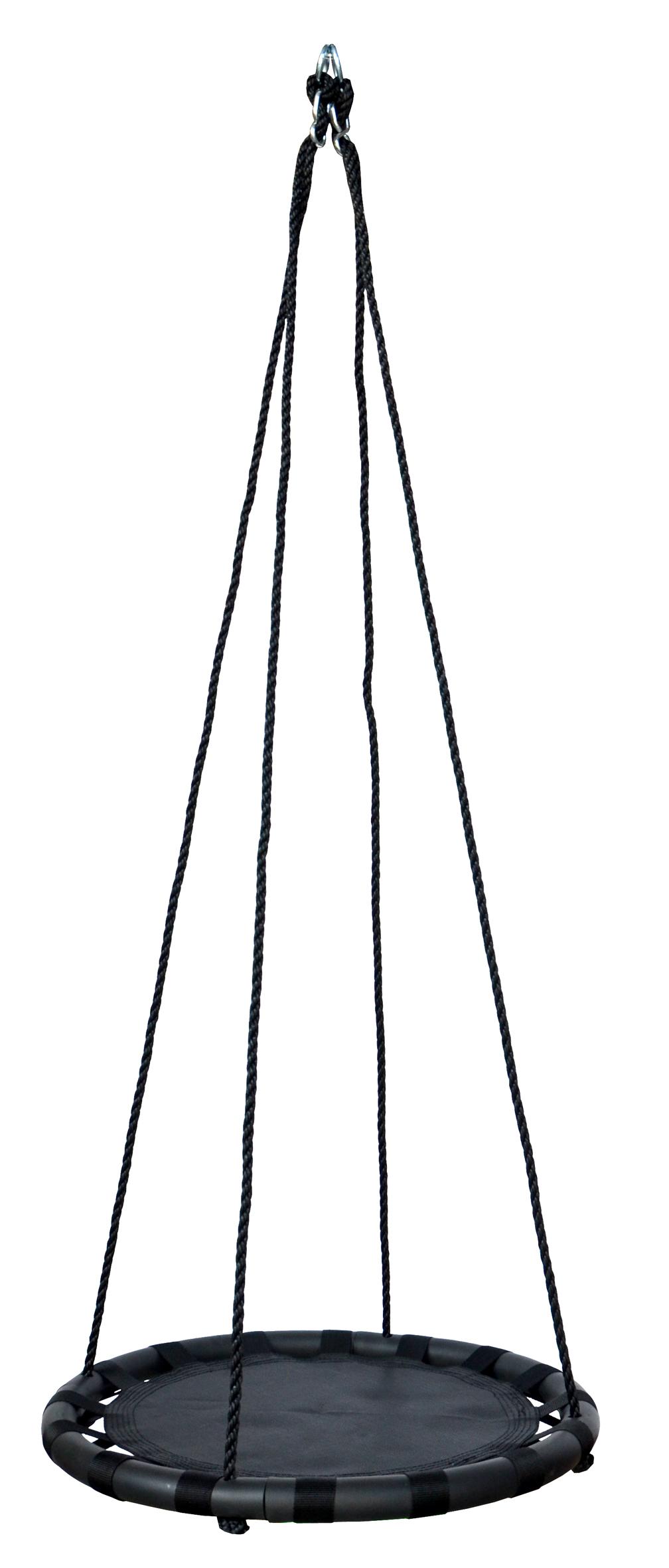 60cm Black Round Mat Nest Swing - Heavenly Hammocks