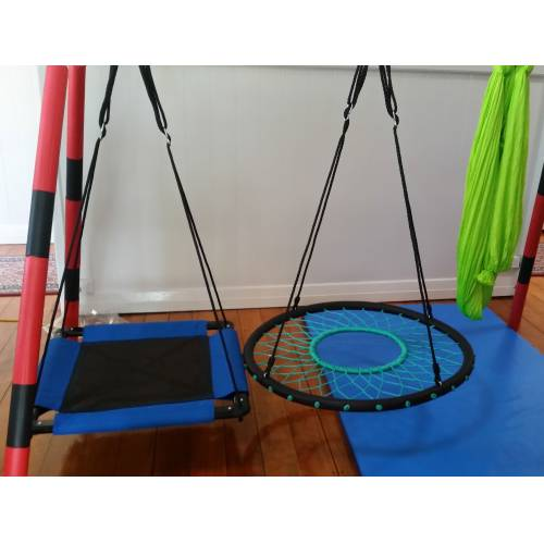 Rope Tire Swing on Padded Stand