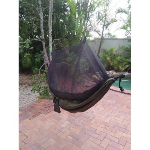 Dark Green Mosquito Net Hammock and Tree
