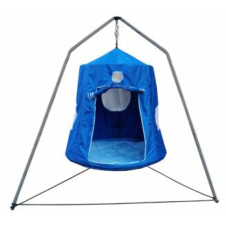 XL Blue Hangout with Pillow and Tripod Stand