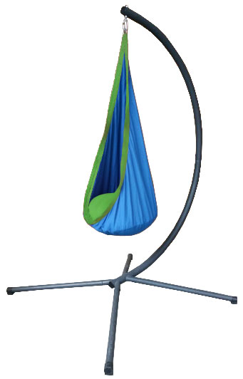 Blue And Green Waterproof Sensory Swing With C Stand