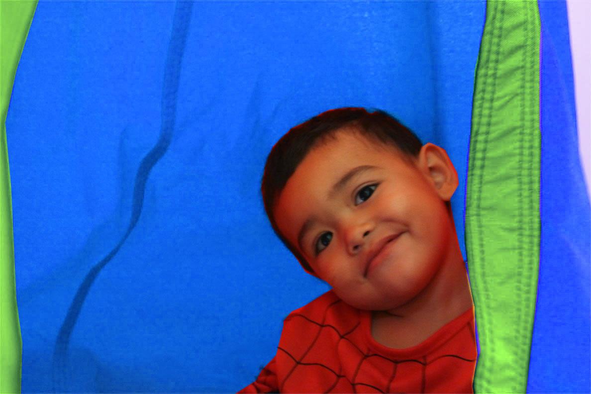 Blue And Green Waterproof Outdoor Sensory Swing Pod Chair