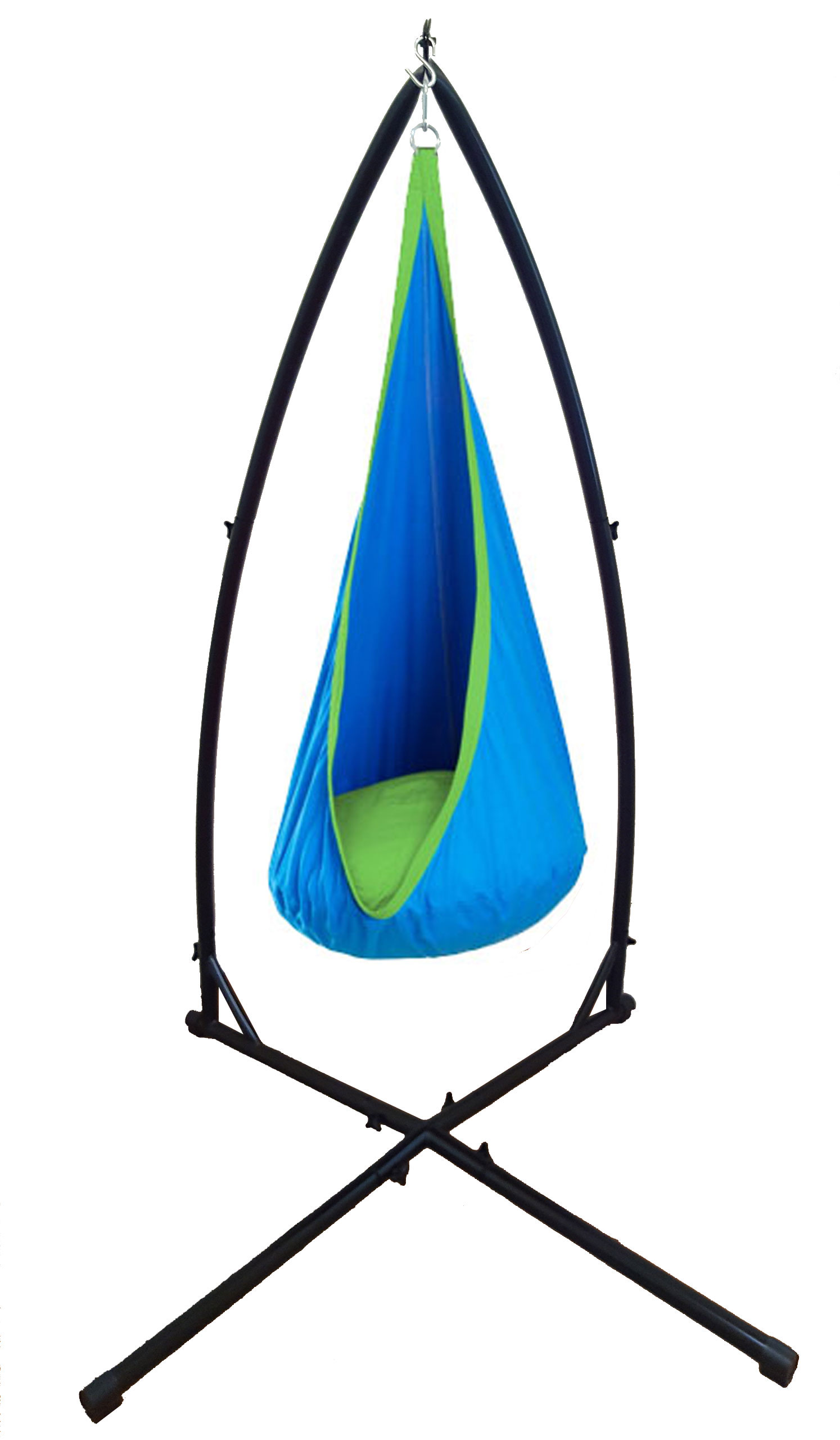 Blue And Green Waterproof Sensory Swing With Stand