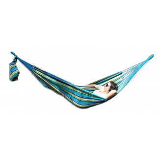 Medium Blue and Yellow Multi Coloured Canvas Hammock