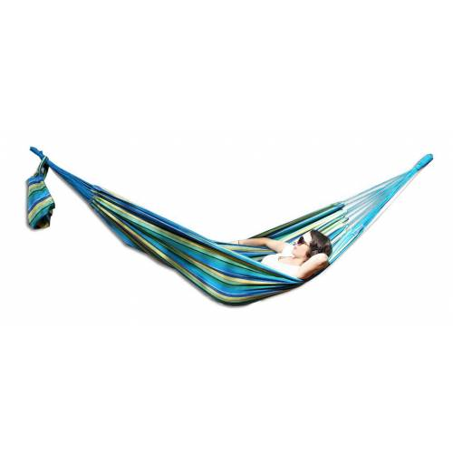 Large Blue and Yellow Multi-Coloured Canvas Hammock