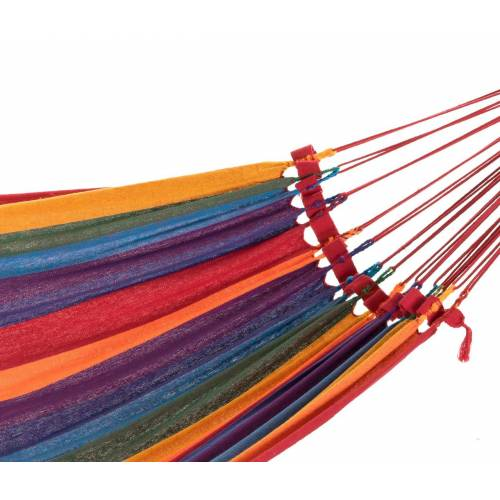 Bright Multi-Coloured Canvas Hammock Zoomed