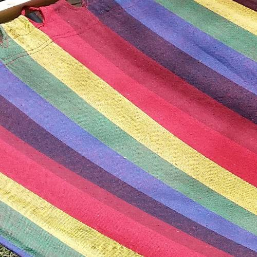 Bright Canvas Hammock Material