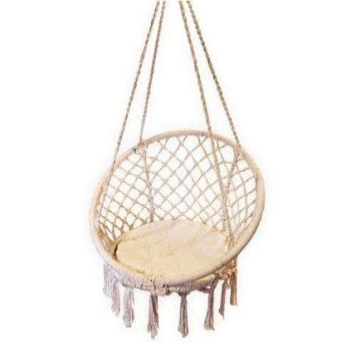 Macrame Hammock Chair Beige Heavenly Hammocks