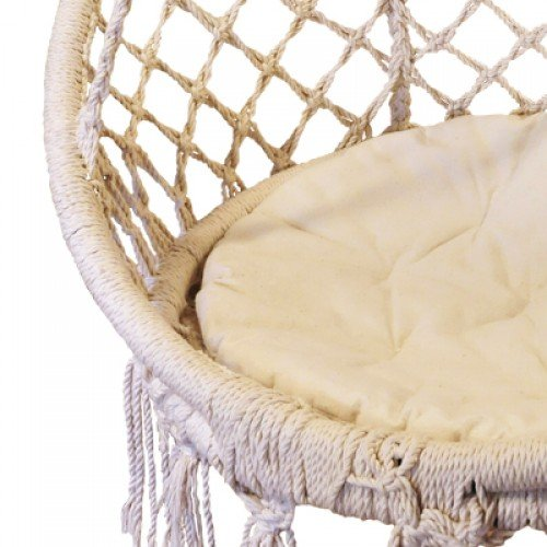 Macrame Hammock Chair Beige Heavenly Hammocks