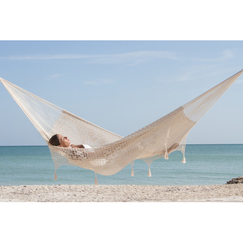 queen size outdoor cream cotton mexican hammock with fringe and tassels   heavenly hammocks queen size outdoor cream cotton mexican hammock with fringe and      rh   heavenlyhammocks   au