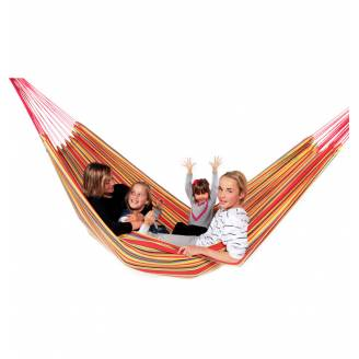 X Large Orange Multi Coloured Canvas Hammock