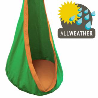 Green and Orange Waterproof Outdoor Sensory Swing Pod Chair
