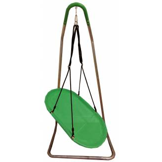 Green Oval Seat Swing with U Stand