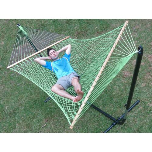 Large Green Cotton Rope Hammock