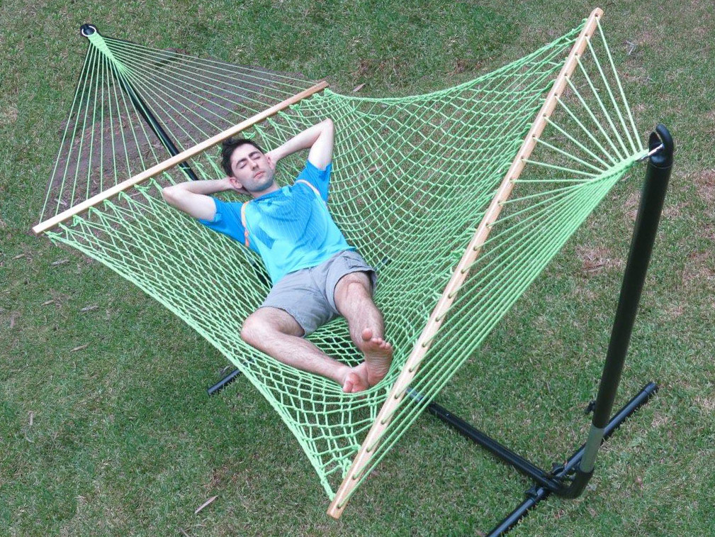 large green cotton rope hammock with spreader bar heavenly hammocks and swings   with 70  items to choose from  rh   heavenlyhammocks   au
