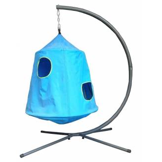 Blue Hangout Hanging Nest with Stand