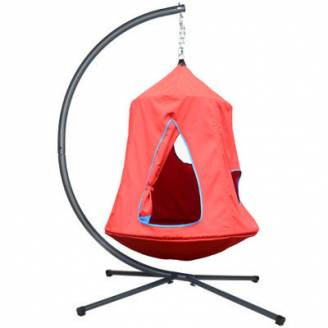 Red Hangout Hanging Nest with Stand