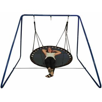 150cm Black Mat Nest Swing with Swing Set Stand