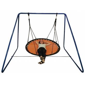 150cm Orange Mat Nest Swing with Swing Set Stand