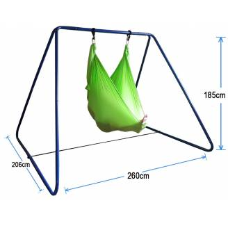 Large Green Nylon Wrap Therapy Swing with Swing Set Stand