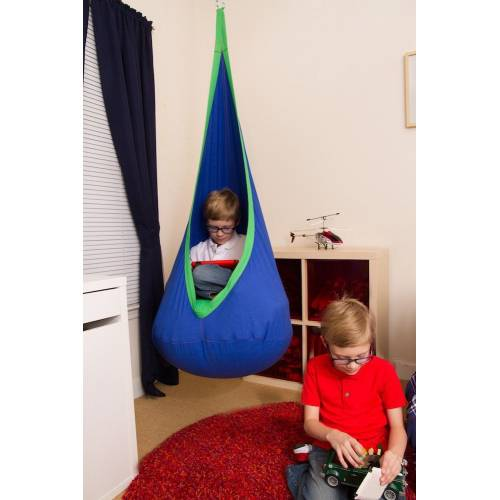 Blue And Green Kids Sensory Swing Pod Chair Heavenly