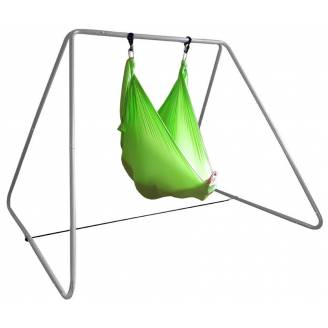 Large Green Nylon Wrap Therapy Swing with Swing Set Stand (Galvanised)