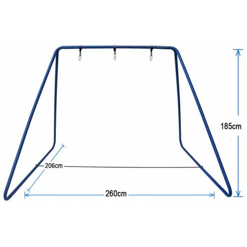 Large Blue Swing Set Stand