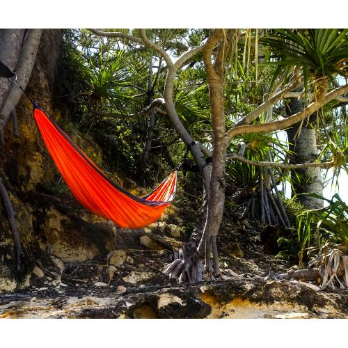 Parachute Hammock on Cliff