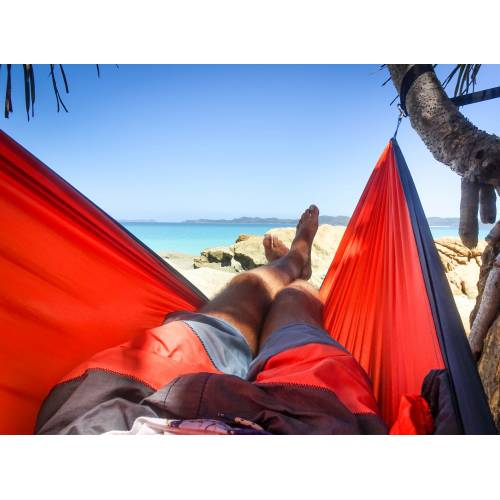 Parachute Hammock on Beach