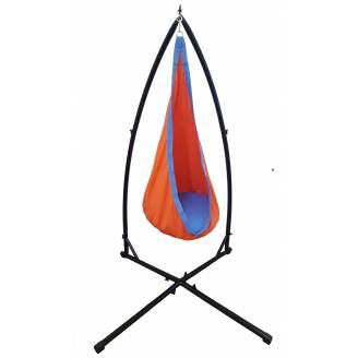 Orange and Blue Cotton Sensory Swing with Stand