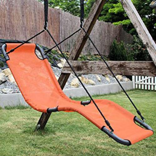 165cm Orange Textilene Lounge Swing Heavenly Hammocks