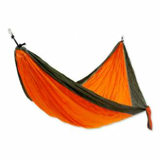 Large Orange and Black Parachute Hammock