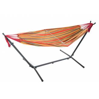 Free Standing Hammock: Large Multi Colour Orange
