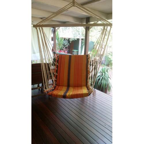 Orange Padded Hammock Chair Heavenly Hammocks