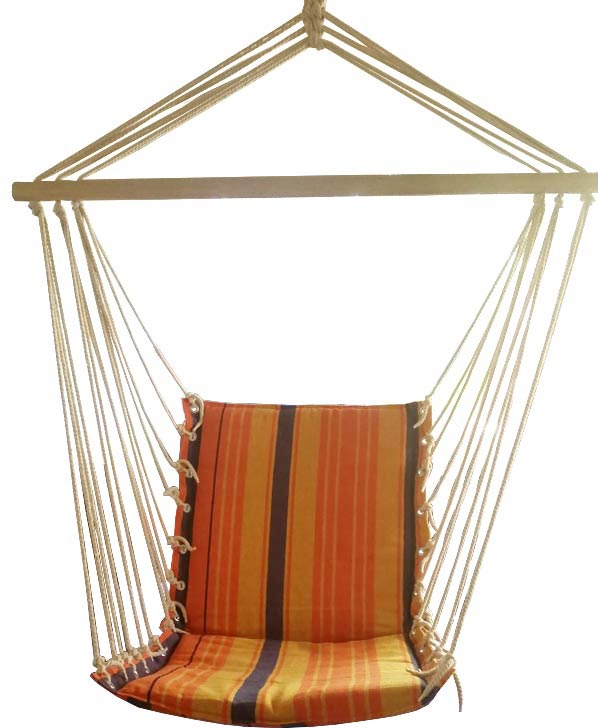 Lovely Orange Padded Hammock Chair
