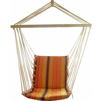 Orange Padded Hammock Chair
