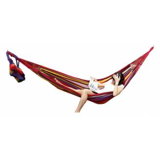 Large Purple and Red Multi Coloured Canvas Hammock