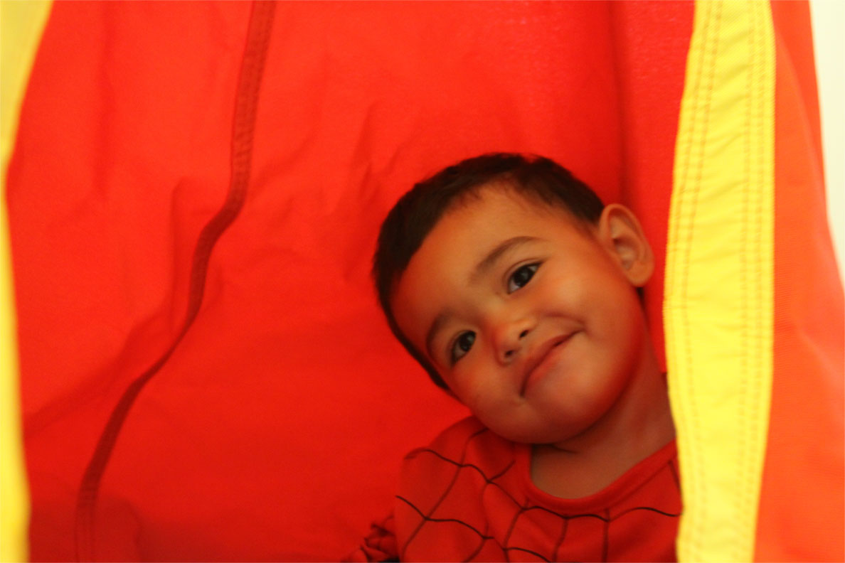 Red And Yellow Waterproof Outdoor Sensory Swing Pod Chair Heavenly Hammocks