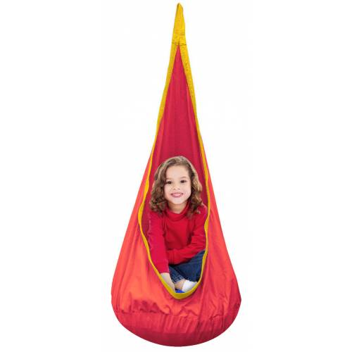 Red And Yellow Waterproof Outdoor Sensory Swing Pod Chair