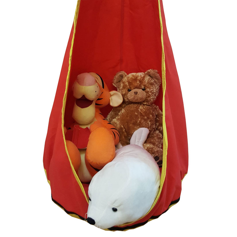 Red And Yellow Waterproof Sensory Swing With C Stand