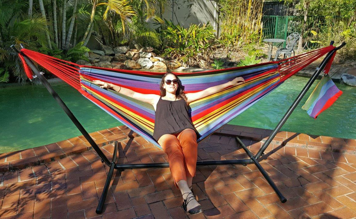 luxury all wood beautiful stand weave garden canopy post related frame woven hammock of acrylic hammocks canvas weather our with from are teak soft